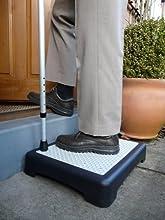 whizztec-Instant altura antideslizante al aire libre paso (1193) escalón al instante reduce la altura de puertas. Ayuda de movilidad.