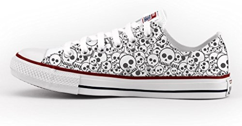 Converse Personalizados e impresos - zapatos de artesanía - Skull -