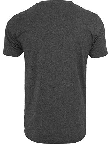 Mister Tee Herren T-Shirt C.R.E.A.M. Bundle Print Kurzarm-Shirt Charcoal