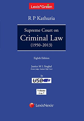 LexisGreen Supreme Court on Criminal Law 1950 - 2013 - 2014 in USB Format (Set of 7 Volumes)