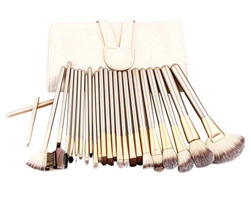 24 Pièces Mode Pinceaux Sets/Pinceaux de maquillage professionnels, Blanc