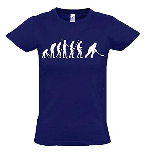EISHOCKEY Evolution Kinder T-Shirt navy-weiss, Gr.140cm
