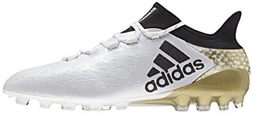 adidas X 16.1 AG, Chaussures de Football Homme Multicolore - Multicolore (Ftwwht/Cblack/Goldmt)