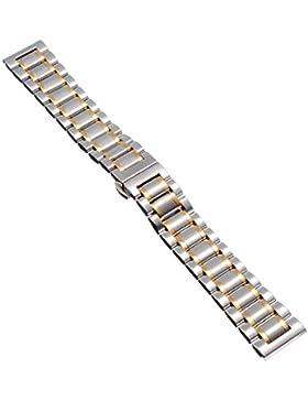 16mm Herren Damen Gold Silber Stahl Edelstahl Quarz Wrist Uhren-Armband Uhrenarmbänder Uhrband Watch Band Watch...