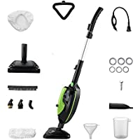 Moolan Steam Mop Handheld Cleaner Carpet Floor Cleaning Machines 1500W Powerful Non-Chemical Multifunctional Including 12 Accessories