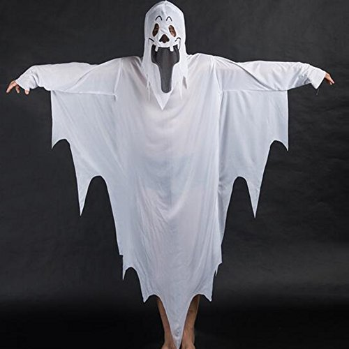 Größe 20 Kostüm Pocahontas - Yimosecoxiang Special Festival Offers White Ghost Tattered Gown Mask Girl Boy Kinder Halloween Kostüm weiß