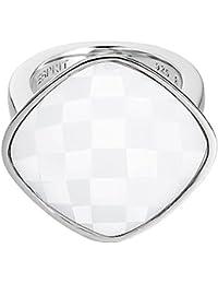 Esprit - ESRG11568D - Impressive White - Bague Femme - Acier inoxydable 14.62 gr - Verre - Blanc