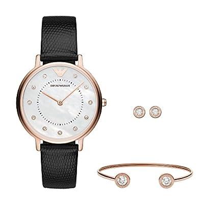Emporio Armani Women's Analogue Quartz Watch with Leather Strap AR80011