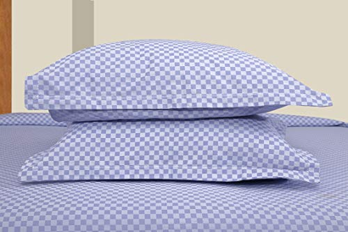 haus-kinder-Luxurious-Satin-Checks-300-TC-100-Double-Bedsheet-with-2-Pillow-Covers-King-Size-100-inch-by-108-inch