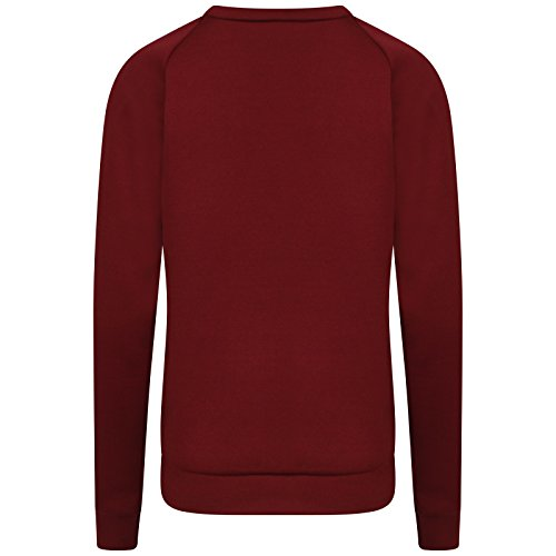Love Celeb Look - Sweat-shirt - Femme Rouge - Bordeaux