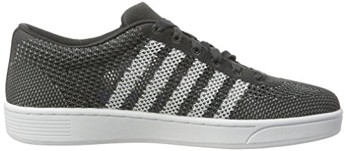 K-Swiss Addison Pique, Sneakers Basses Mixte Adulte Gris (Dark Shadow/white)