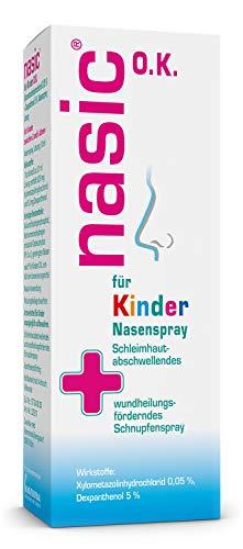 nasic für Kinder O.K. Nasenspray mit dem Wirkplus - Abschwellendes Schnupfenspray ohne Konservierungsstoffe für Kinder ab 2 Jahren - Mit Xylometazolin & Dexpanthenol - 10 ml