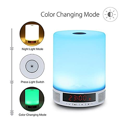 Elinkume® LED Night Light Wireless Bluetooth haut-parleur Touch Control lampe