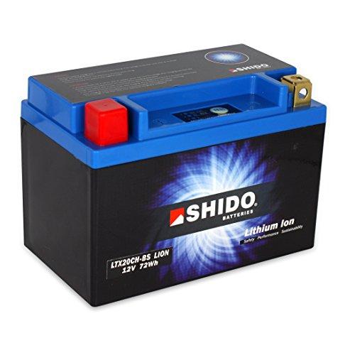 Batteria Litio SHIDO ltx20ch-BS/ytx20ch-BS, 12V/18ah (dimensioni: 150X 87X 161) per moto guzzi California 1100I anno di costruzione 1997