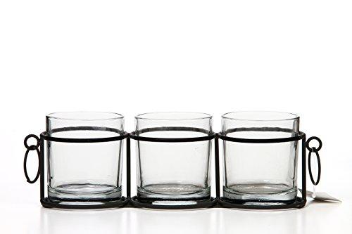 Hosley Glas Kerze cokay LTD 30,5cm Lang. Ideal Geschenk für Spa, Aromatherapie, Restaurant, Party, Hochzeiten P2