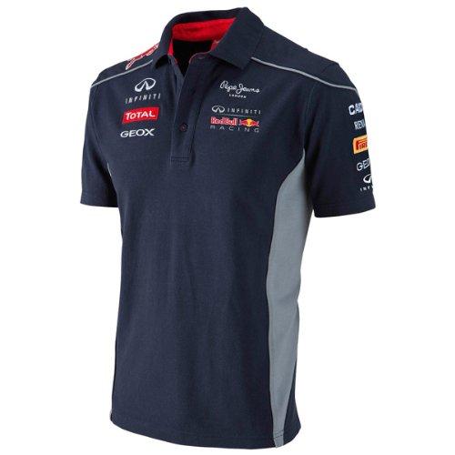 Infiniti red bull racing teamline bleu marine polo des sponsors formule 1 rBR sebastian vettel M
