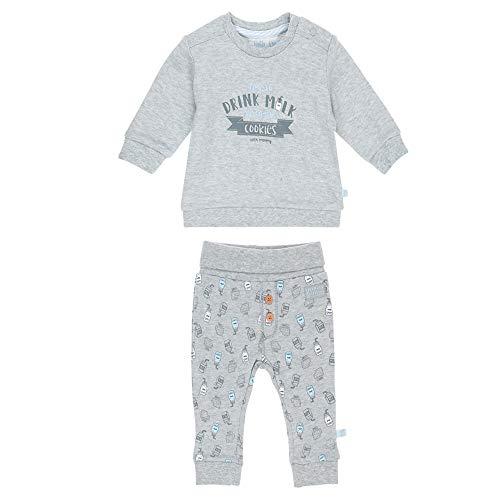 Feetje Baby-Jungen Zweiteiliger Sweat-Anzug Drink Milk, grau Melange, 62 - Jungen Anzüge Sweat