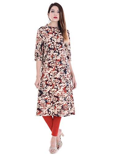 Palakh Women's Cotton Straight Kurti (PK1015523-L_Large,Multicolor)