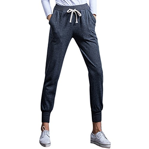 Zhhlaixing Fashion Plus Size Loose Thin Sports Pants Womens Comfortable Fitness Trousers Dark Gray