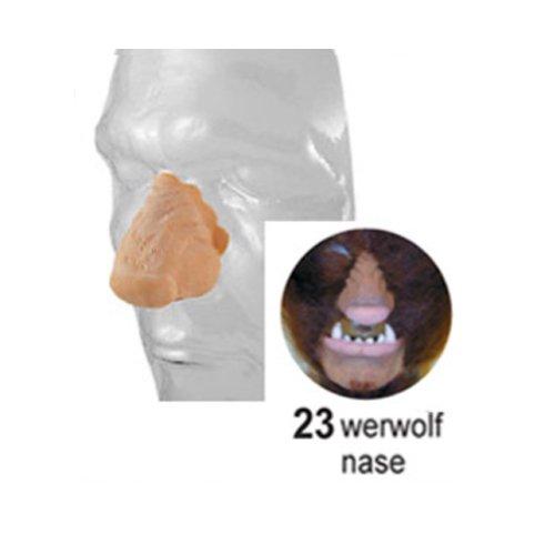 Latex Teile künstliche Gesichtsteile Theater Profi Qualität Farbe Nr 23 = Werwolf (Nase Werwolf)