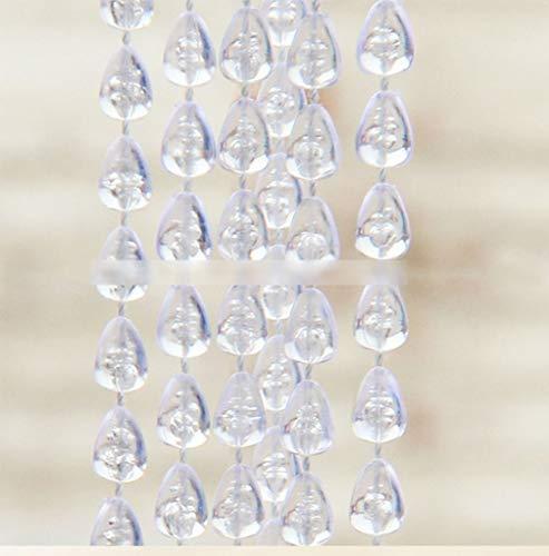 BLSTY Hohe Dichte Perlenvorhang, Mehrfarbig Perlenvorhang Raumtrennung für Küche Badezimmer Wohnzimmer Terrasse Trennwand Fenster Vorhang Fadenvorhang-100x200Cm(39x79Zoll)-C - Küche Terrasse Vorhänge