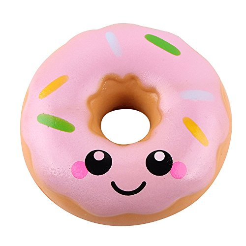 Elevin(TM) _ Toys & Joker Squishes Toys Kawaii Squeeze Squishy Slow Rising Jumbo Giant Scented Cartoon Doughnut Stress Reliever Toy Large B Pink