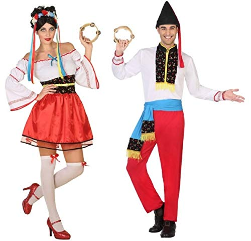 & Herren Traditionelles ukrainisches Nationalkleid um die Welt Karnevalskostüm Outfits (Damen 38-40 & Herren X-Large) ()