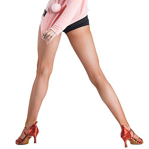 Pitping Professionelle Lateinische Tanzstrümpfe Strumpfstrümpfe Netzstrümpfe Nahtlose Strumpfhosen Tanzen Rennen - Bronze - - Tap Dance Show Kostüm