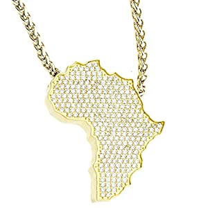 .iced-out. beUNIQUE Bling Afrika Kette by Leon Lovelock Gold