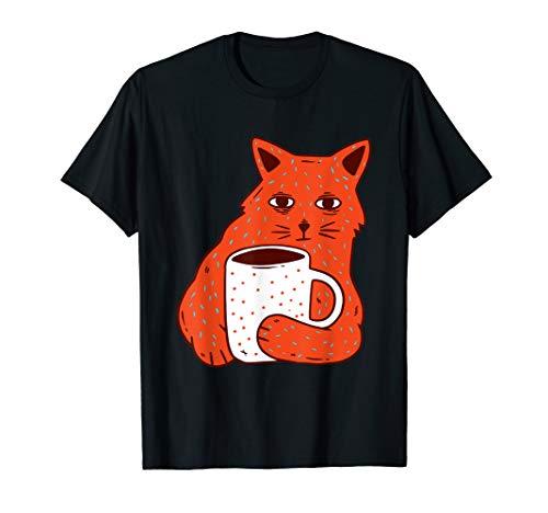 Kaffeekatze - stören Sie mich nicht - lustiges Kätzchen T-Shirt -