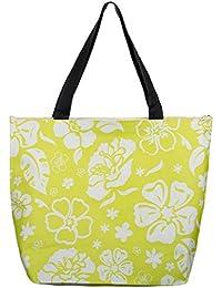 f155eb69ac6d7 Brandsseller Strandtasche Blumenmuster Damen mit Reißverschluss  Schultertasche Shopper Sommer Tasche Größe ...