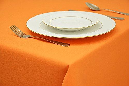 Preisvergleich Produktbild EDLE TISCHDECKE TISCHLÄUFER TISCHTUCH TISCHWÄSCHE PFLEGELEICHT 40 FARBEN (Orange 6, 140x200cm)