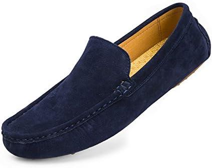 2018 Mocasines Zapatos para hombre Mocasines Vamp de cuero genuino hechos a mano tradicionales de los hombres...