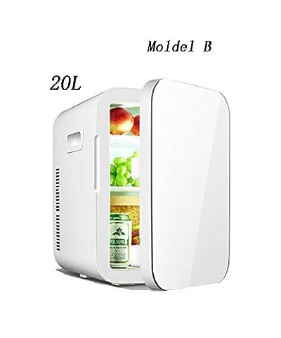 LIQICAI Electrical Coolbox Refrigeration Car Mini Fridge Electric Cool Box Cooler Warm/Cool Temperature Adjustable -12V DC 220V AC ( Color : White , Size : MODEL-B )