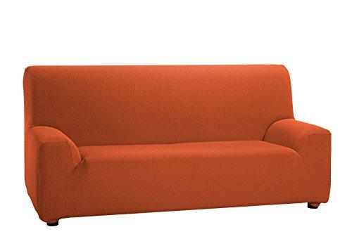 Martina Home - Copridivano elastico, 3 posti da 180 a 240 cm di larghezza, colore Arancione