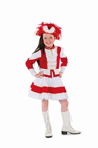 Kostüm Hexe Kind Garde - Kinder Kostüm Garde Tanzmariechen rot-weiß Karneval Fasching Gr.98