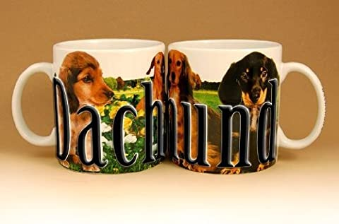 Americaware, My Pet Mug, Best Friend Series, Dachshund, Raised Lettering, 18 oz. by Americaware