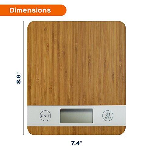 Digitale Smart Weigh Küchenwaage aus Bambus - 2