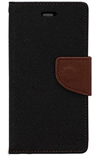 SCHOFIC Premium Fancy Wallet Diary Faux Leather Mobile Flip Case Cover [Pouch] with Card Slots [POCKETS] , Stand View and Magnetic Strap [LOCKING] for Lenovo K3 Note / A7000 Plus / A7000 Music-CHOCO BROWN