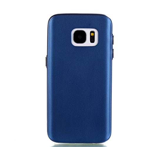 YHUISEN Galaxy S7 Edge Case, Solid Color Matte Slim Fit Soft TPU Gel Langlebig Schock Absorbing Schutzhülle Für Samsung Galaxy S7 Edge ( Color : Pink ) Blue