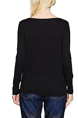 ESPRIT, Maglia a Maniche Lunghe Donna Multicolore (Black 001)