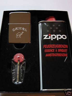 Zippo Feuerzeug Camel Words ButtonGeschenk-Set