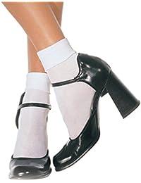 Leg Avenue Soquettes Chics Classiques Opaques Blanc Taille Unique