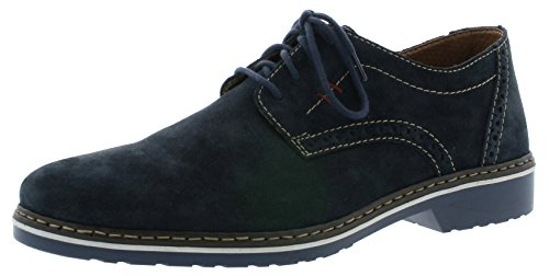 Rieker Herren Halbschuhe Blau - Extra Weit, Schuhgröße:EUR 45