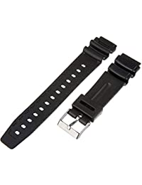 Timex Men's Q7B723GZ Resin Performance Sport 19mm Black Replacement Watchband