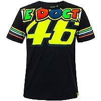 VR46Valentino Rossi–Camiseta para Hombre Black–The Doctor 46–Tiras Diseño–MotoGP, Large