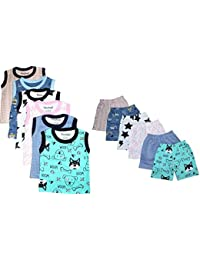 Tinchuk Sleeveless T-Shirt - Shorts Hero Print Set Pack of 12 for Little Rockstar Tinchuk Sleeveless T-Shirt - Shorts Hero Print Set Pack of 12 for Little Rockstar Multi-Coloured (Pack of 12)