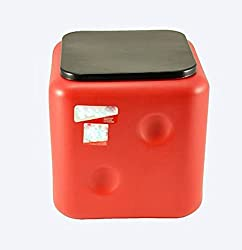Sarangware Dice Stool, Sitting Stool, Living Room Stool - Red