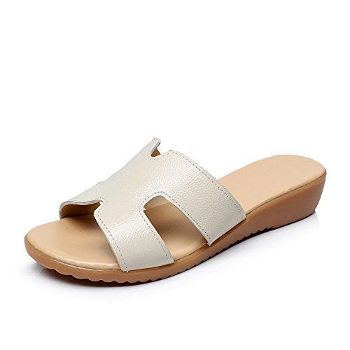 ZPPZZP Ms sandali pantofole estate piatta e con bassa scanalato 40EU