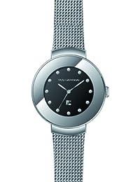 Ted Lapidus - A0500RNPX - Montre Femme - Quartz Analogique - Cadran Noir - Bracelet Argent Gris